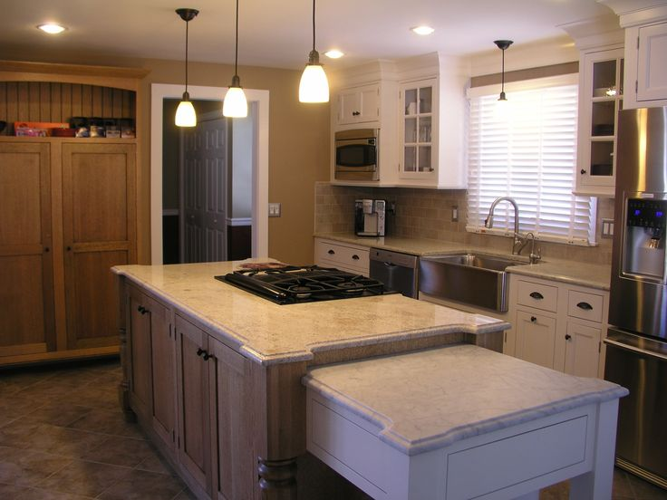 Quarter sawn oak kitchen island site creation and design customization by primalfire design kitchen pinterest kitchens and house