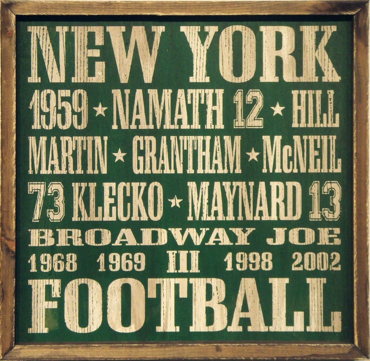 "Country Marketplace - Vintage New York #Jets Wood Sign 18"" x 18"", (http://www.countrymarketplaces.com/vintage-new-york-jets-wood-sign-18-x-18/)"