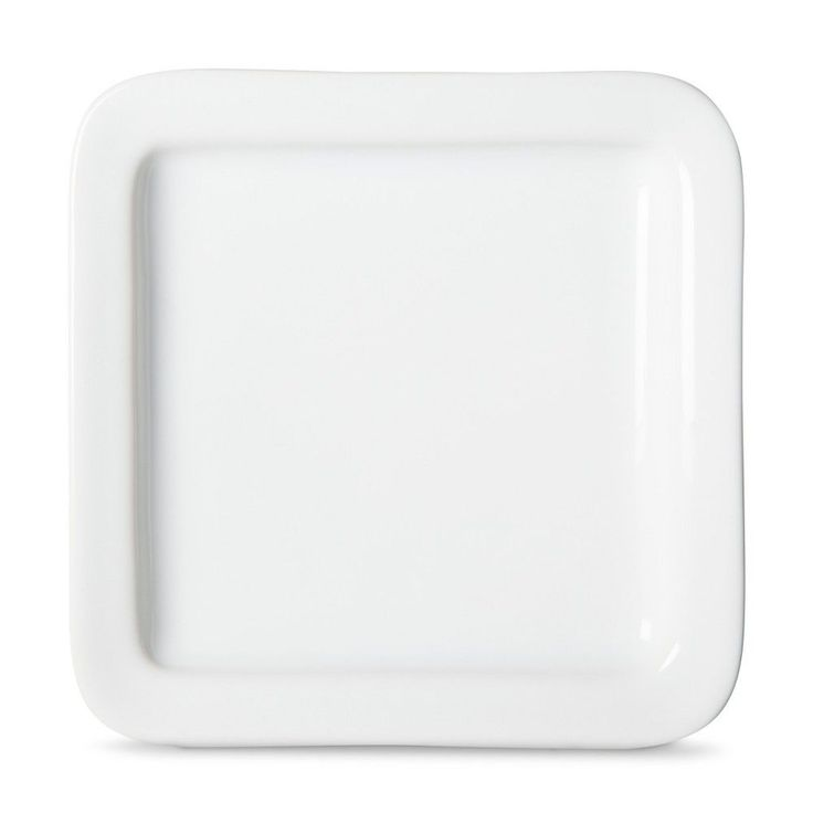 Casual Modern Appetizer Plate Set of 8 - White - Threshold