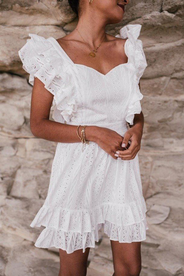 Sukienka Sienna Laurella Cotton Dresses Cotton Dress Summer White Dress