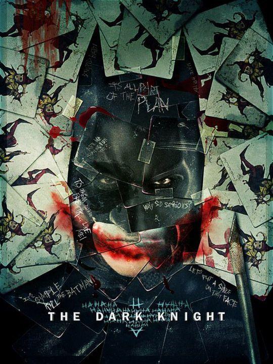 ジョーカーの落書きがいっそうひどくなったバットマン ダークナイトのポスター - WEBマーケティング ブログ