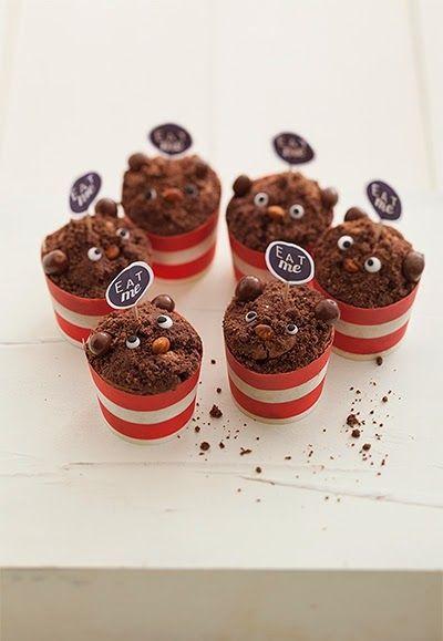 Chocolate muffin bears recipe