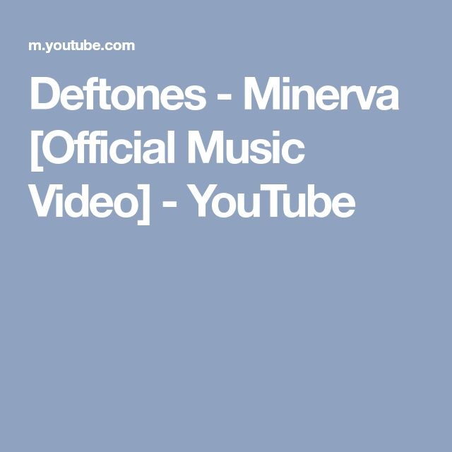 Deftones - Minerva [Official Music Video] - YouTube