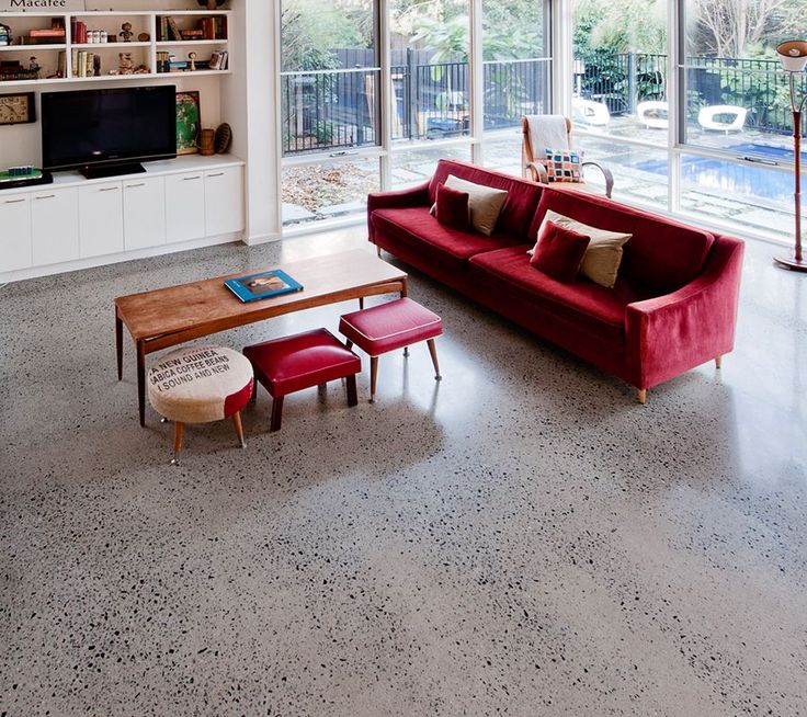 An In-Depth Guide To Polished Concrete Floors - like this speckled concrete for downstairs