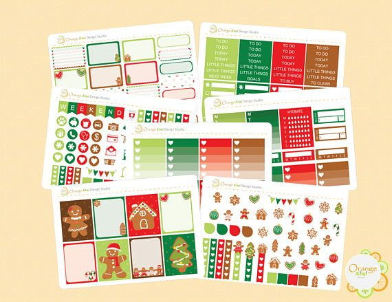 Gingerbread Weekly Kit December Weekly Kit Erin Condren Life
