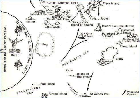 Brendan Voyage map- AO7 | AO Y7 The Brendan Voyage | Pinterest ...
