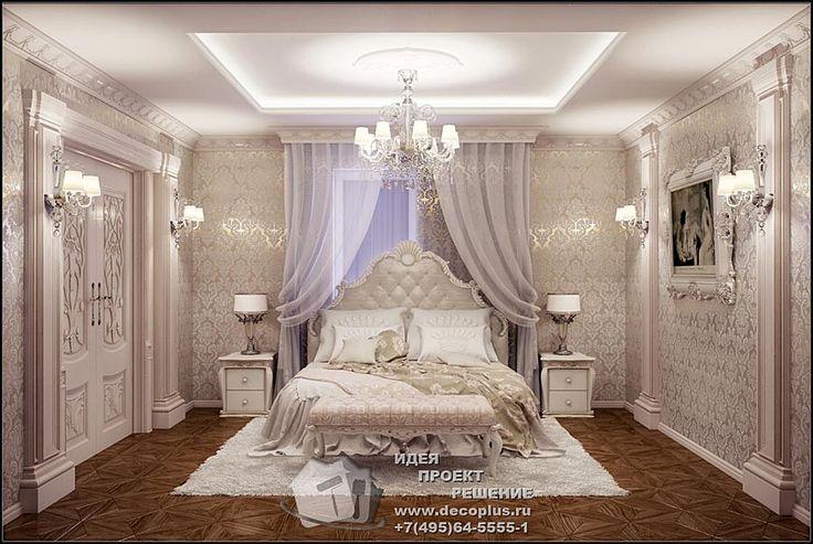 Дизайн розовой спальни в классическом стиле. Фотогалерея интерьеров внутри 2015, современные идеи