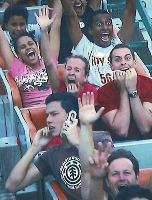 """The """"Hold on, everyone around me won't stop screaming."""" 