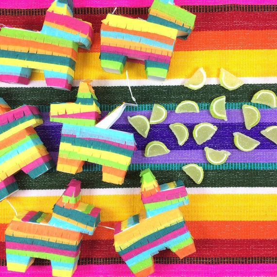 Its not a fiesta without a piñata! As seen in: http://theeverygirl.com/how-to-create-the-perfect-margarita-bar  These cute little piñatas are great for adding a festive touch to your Mexican themed wedding, birthday party, cinco de mayo fiesta, bachelorette, baby shower and everything in between! This carefully engineered design was created so you can open up the mini piñata and fill it! This isnt some glued together cereal box thingy! These are awesome templates we perfected so every single…