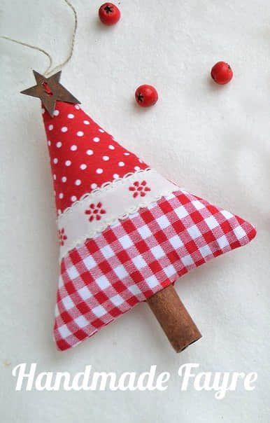 Moldes para hacer arbolitos navideños de fieltro o tela para imprimir gratis8
