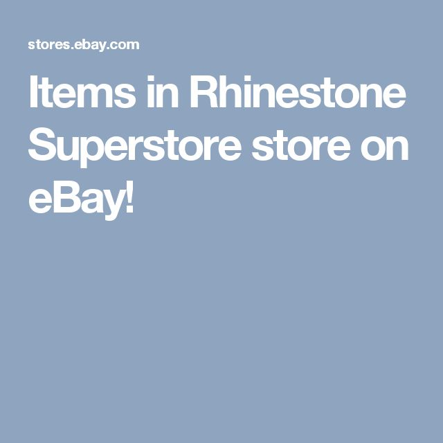 Items in Rhinestone Superstore store on eBay!