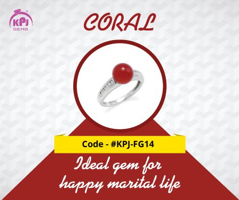 The Idle Gem for a Happy Marital Life - CORAL Code - ‪#‎KPJ‬-FG14 For More Details Visit - http://goo.gl/C9Trmr ‪#‎Coral‬ ‪#‎FancyGems‬ ‪#‎GemStones
