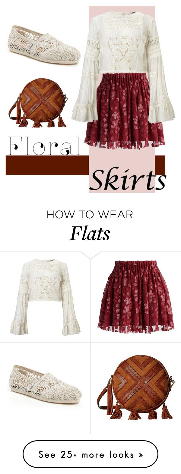 """Untitled #176"" by chelocean93 on Polyvore featuring Chicwish, Miss Selfridge, Gabriella Rocha, TOMS and Floralskirts"