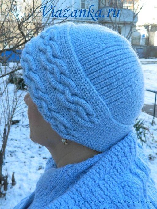шапка плетёнка 1