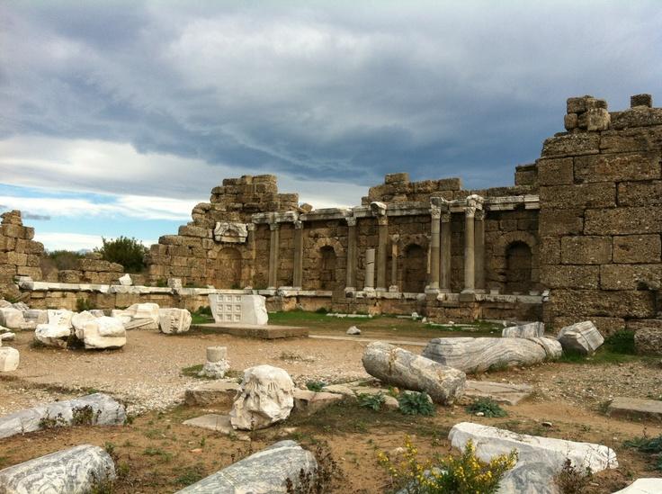 Roman Building,  Side, Turkey