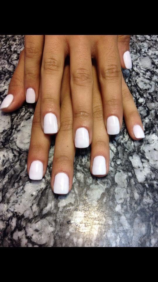 Sparkle Pink & White Nexgen Nails | Nexgen nails, Nexgen
