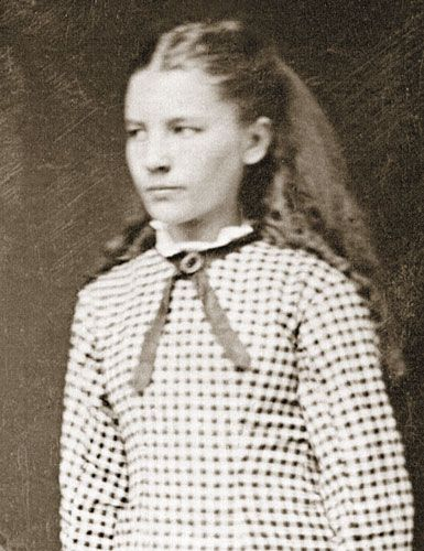 "Laura Ingalls Wilder as a young girl after The Long Winter (which she called The Hard Winter, but the publishers insisted she change the title because they felt nothing should be presented as ""hard"" to children. Nice to know PC was prevalent even in the 1930s!)"