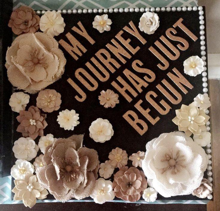 End cap ❤️ #Pearls #Flowers #GoldGlitterLetters #Rustic #Floral