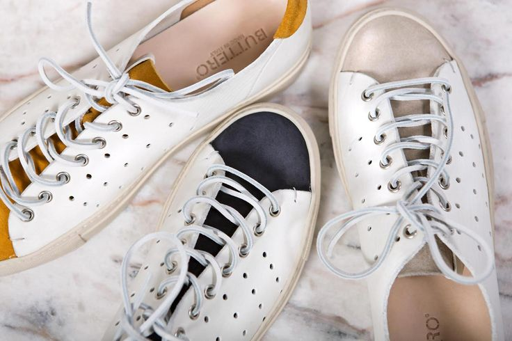 Buttero revamps the classic Tanino sneaker with a perforated white leather body and suede contrast details. Learn more and purchase yours online.