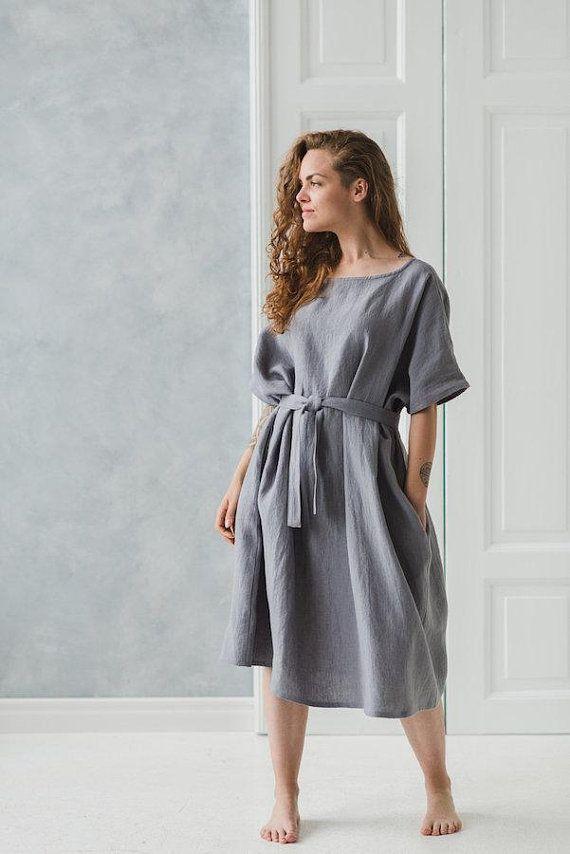 White Linen Dress Long Linen Dress Soft Linen Gauze drees Summer dress. Oversized linen dress Sleeveless linen dress