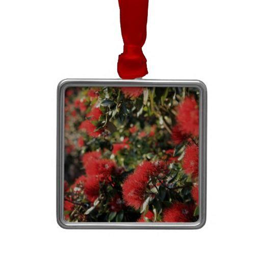 Pohutukawa tree red flowering blossom christmas tree ornament