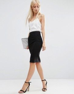 ASOS ASOS High Waisted Pencil Skirt Found on my new favorite app Dote Shopping #DoteApp #Shopping