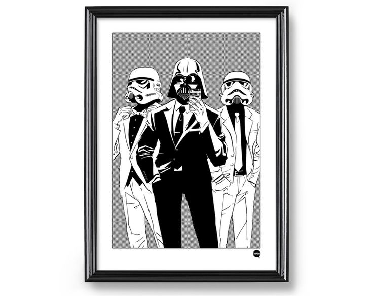 Plakat A3 - Empire Selfie, Star Wars - DrawGeek - Wydruki cyfrowe