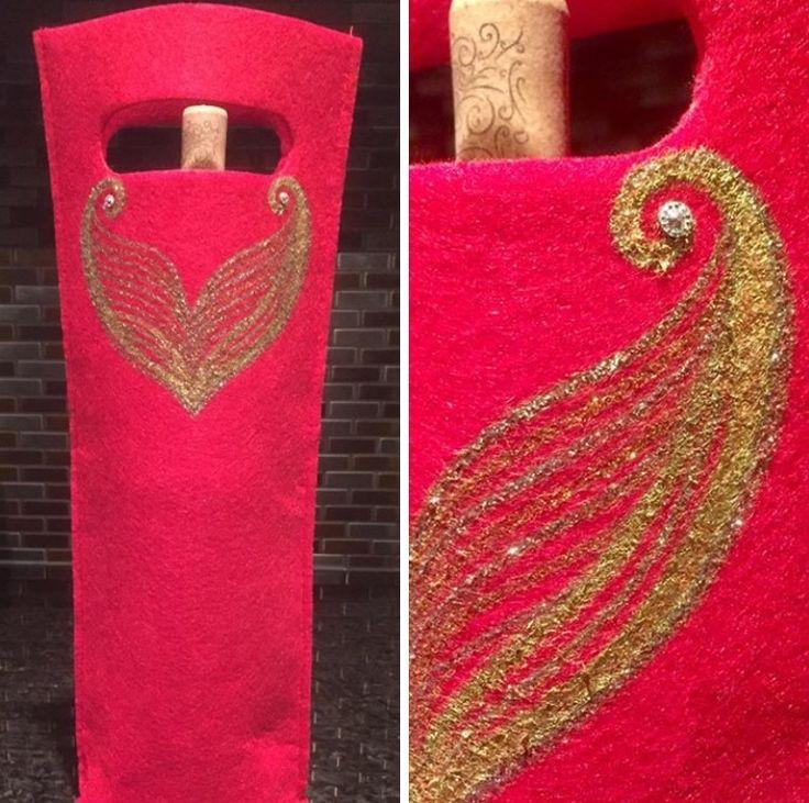 """Mermaids Dream"" #Handpainted #WineToteBags by #DesignArtistMelodyGermain #yyc #Lyalta #AlbertaCanada  www.myescapeart.ca"