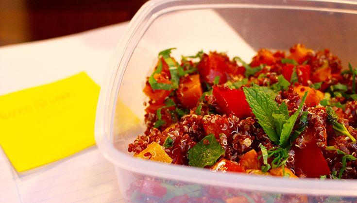 Lunch @ Work – Quinoa salade met zoete aardappel