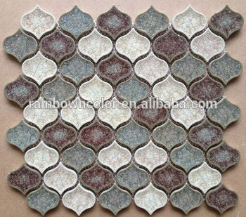 ice crackle glass mosaic tile for lantern shape mix color tile(A086)