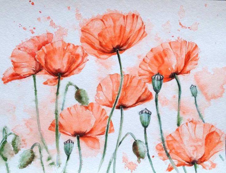 watercolor paintings of flowers - HD1200×919