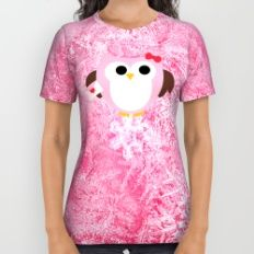 Pink Owl All Over Print Shirt