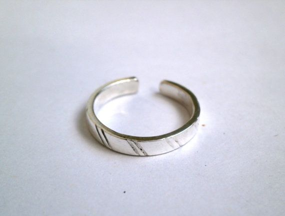 Toe Ring or Knuckle Ring Adjustable Size  by JewelryByKonstantis