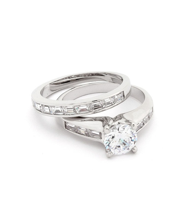 Channel Set Formal Fake Engagement Ring $32