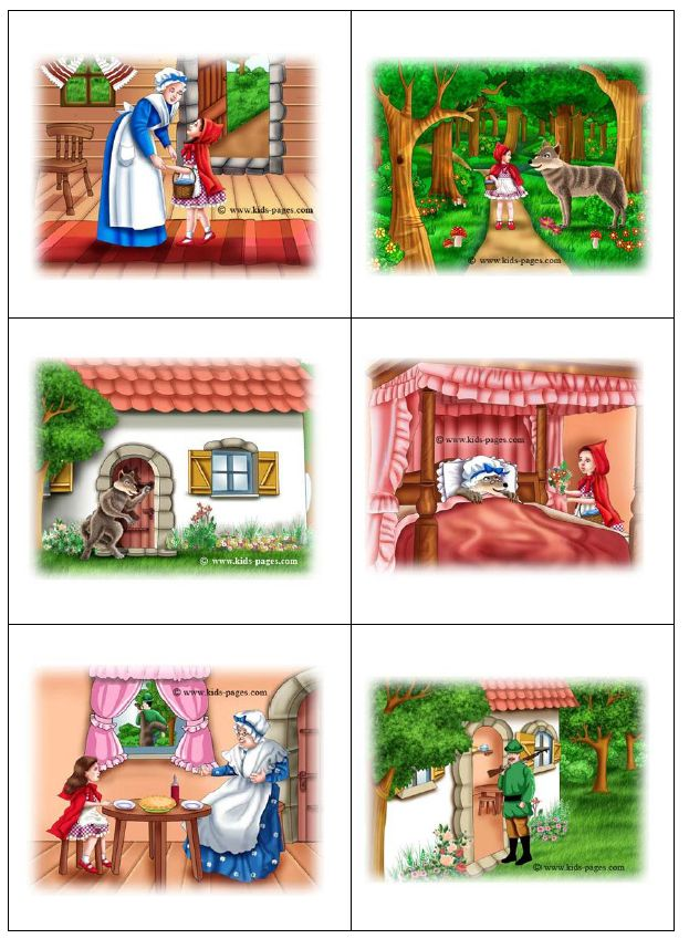 speelplankaarten roodkapje