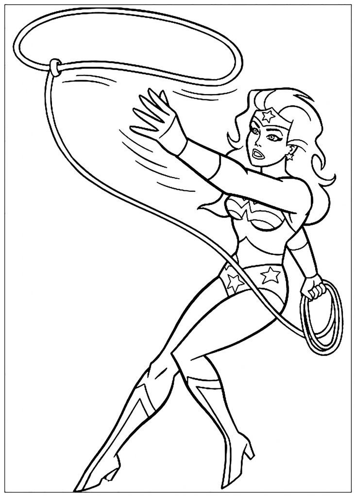 Coloriage Wonder Woman Superhero Coloring Pages Superhero