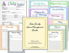 Foster Care Family Home Management Binder by PinkChronicles, $10.00