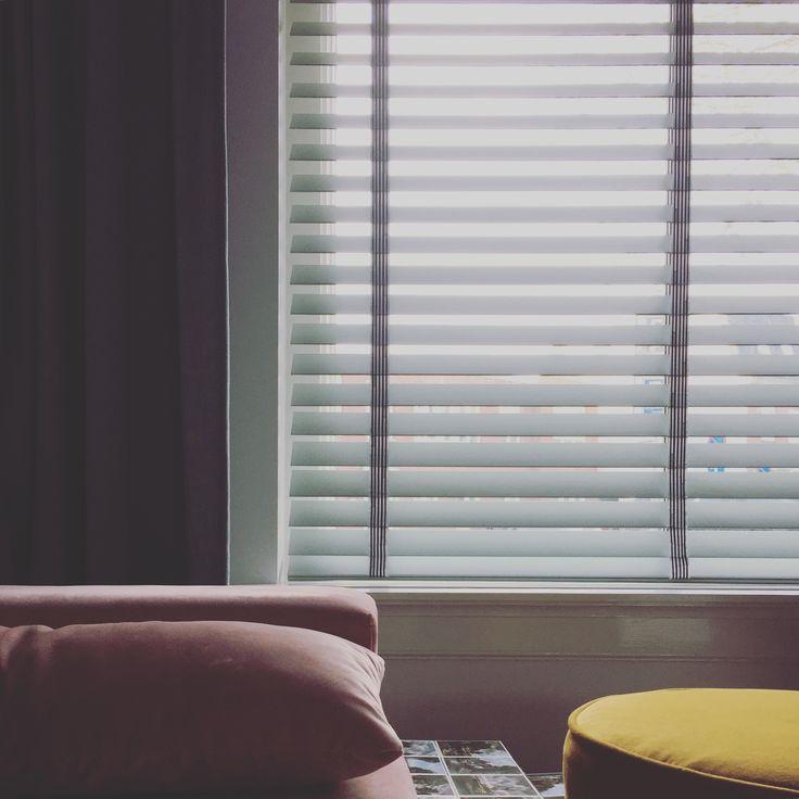 blinds, yellow velvet