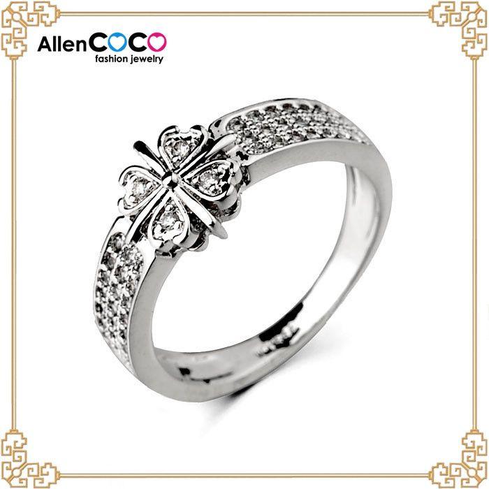 Гуанчжоу мужские кольца с рубином серебряное кольцо четыре клевер форма 18 К позолоченные кольца для женщин