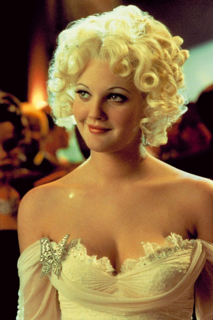 Drew Barrymore. It has that old hollywood glamour i love it.