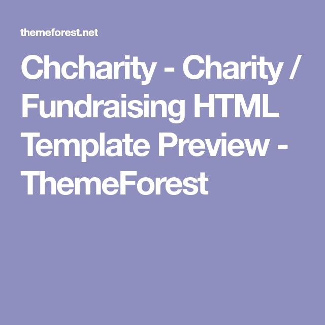 Chcharity - Charity / Fundraising HTML Template Preview - ThemeForest