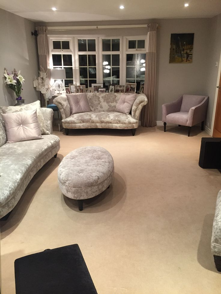 Living Room Lounge Music Room Sitting Room Grey And Purple Colours Dulux Perfectly Taupe Walls