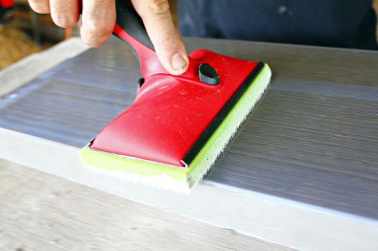 Sealing concrete countertops.