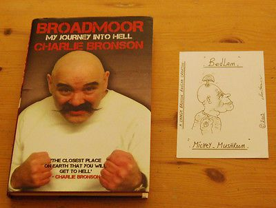 Charles #bronson / #salvador 2005 signed postcard #prison art drawing & book, View more on the LINK: http://www.zeppy.io/product/gb/2/262170846687/