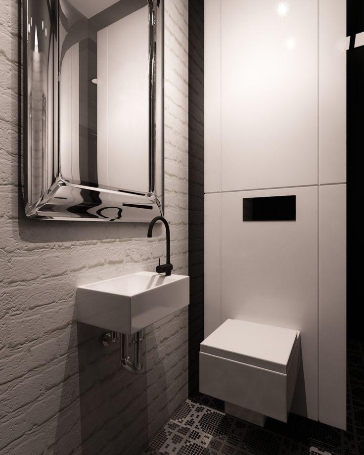 Czarno- biała toaleta