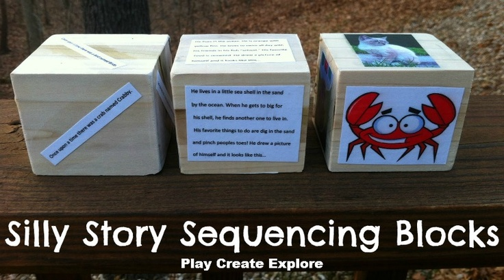 Play Create Explore: Silly Story Sequencing Blocks
