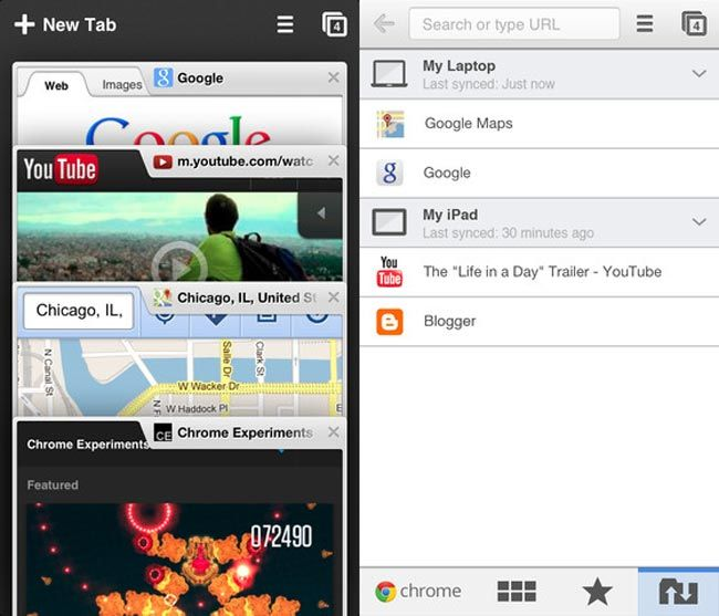Google has released a new version of their Google Chrome app for Apple's iOS devices, the latest version comes with a range of new features, which include supprt for Google Cloud Print and Air Print.