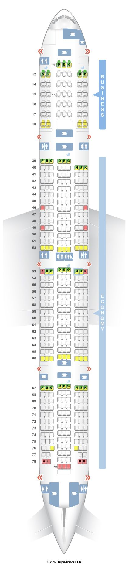 SeatGuru Seat Map Cathay Pacific Boeing 777-300 (73Z) New Regional