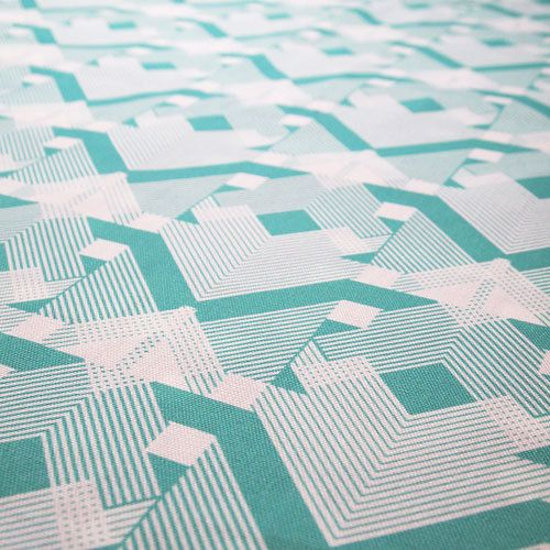 Contemporary geometric fabric from b goods of uk geo for Modern home decor fabric prints