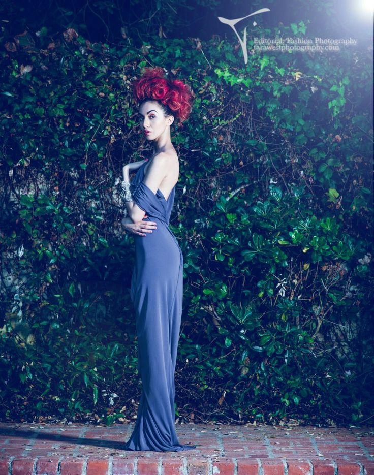 Image title: Enchanted Desire Photographer: Tara West Designer: Kevan Hall Location: Chateau Del Mar, Palos Verdes Estates, Los Angeles, California 2012 Model: Dulce Ruby